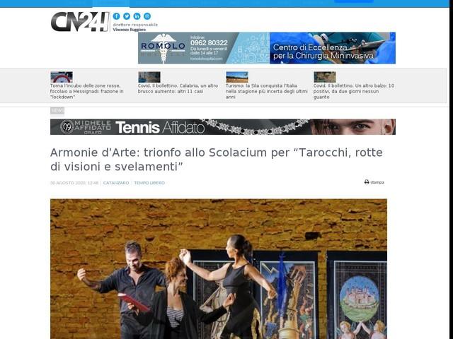 """Armonie d'Arte: trionfo allo Scolacium per """"Tarocchi, rotte di visioni e svelamenti"""""""