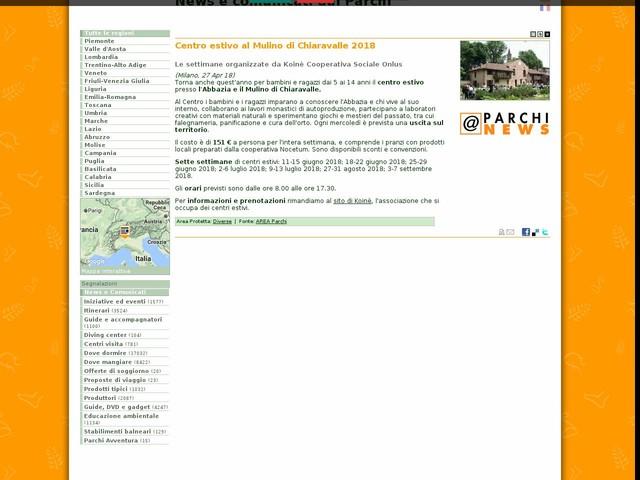 AREA Parchi - Centro estivo al Mulino di Chiaravalle 2018