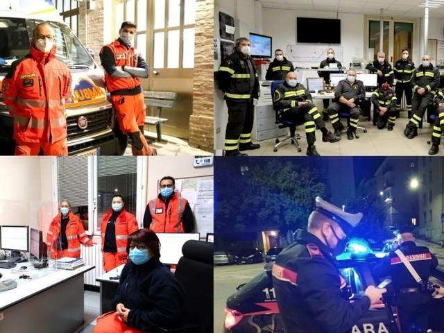 Macerata, il Capodanno in lockdown non ferma i 'Soccorritori': notte serena ma a guardia alta (VIDEO e FOTO)