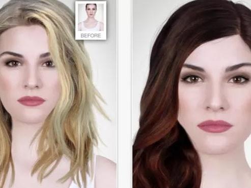 Prova taglio e colore capelli
