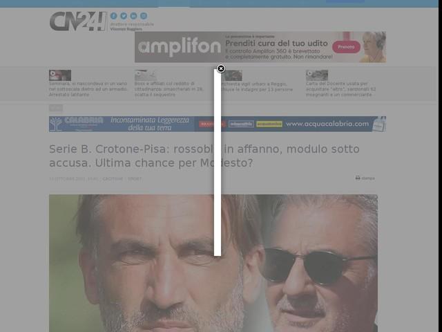 Serie B. Crotone-Pisa: rossoblù in affanno, modulo sotto accusa. Ultima chance per Modesto?