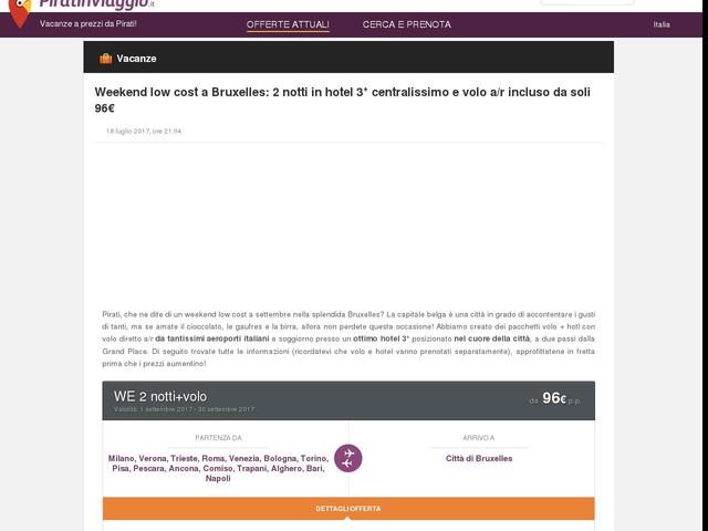 Weekend low cost a Bruxelles: 2 notti in centralissimo hotel 3* e volo a/r incluso da soli 96€