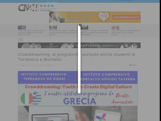 Crowddreaming, al programma europeo anche studenti di Terranova e Montalto