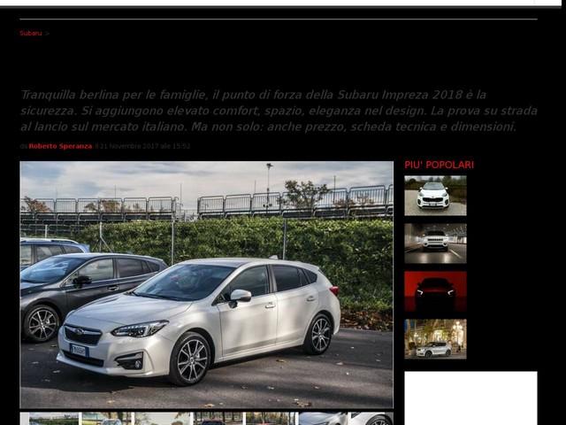 Subaru Impreza 2018: prezzo, motori, scheda tecnica e prova su strada [FOTO]