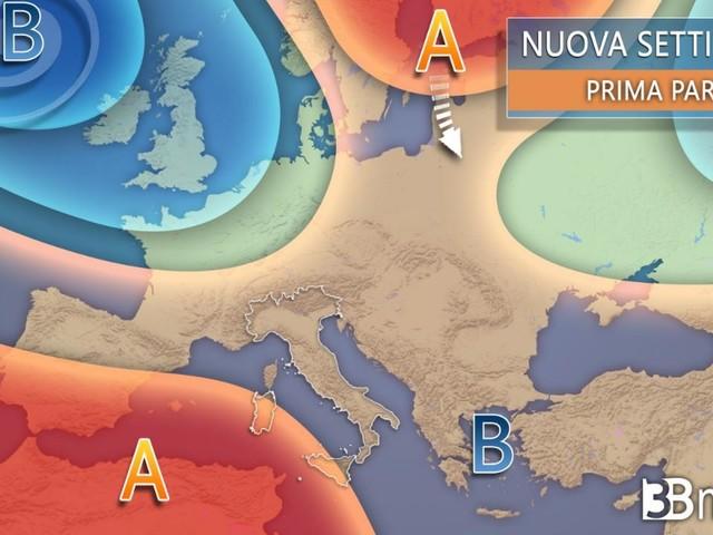 METEO. Nuova settimana, INSTABILITA' in marcia dal Nord verso il resto d'Italia con ACQUAZZONI e alcuni TEMPORALI