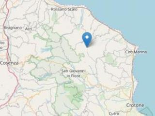 Due terremoti tra le province di Cosenza e Crotone La scossa più forte ha avuto una magnitudo 3.3