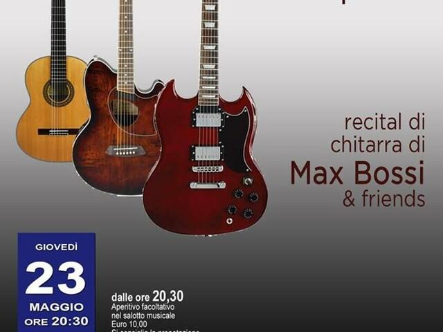 """@TeatroArciliuto – Giovedì 23 maggio – arriva """"L'evoluzione della Specie"""" il Recital di chitarra di Max Bossi & Friends"""