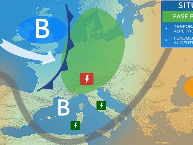 Meteo Italia. Oggi TEMPORALI specie al Nord, ma instabilità sparsa anche al Centrosud