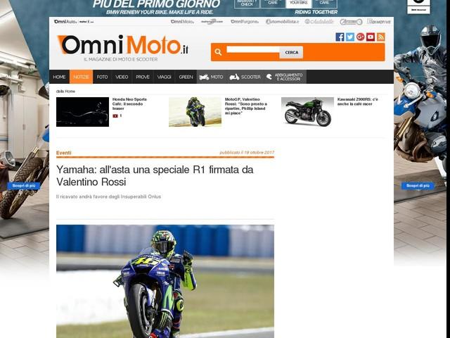 Yamaha: all'asta una speciale R1 firmata da Valentino Rossi