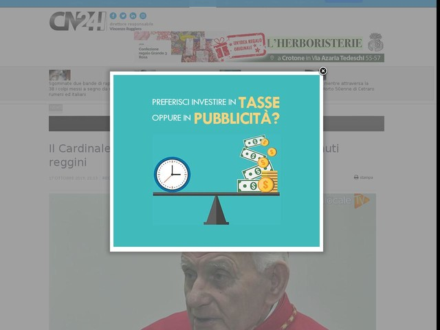 Il Cardinale Simoni festeggerà 91 anni con i detenuti reggini