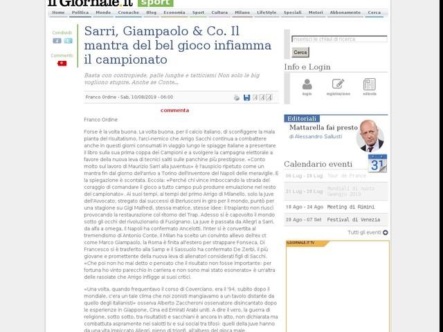 Sarri, Giampaolo & Co. Il mantra del bel gioco infiamma il campionato