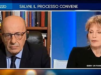 """Alessandro Sallusti a Otto e Mezzo: """"Gregoretti, cosa c'è dietro davvero alla mossa di Matteo Salvini"""""""