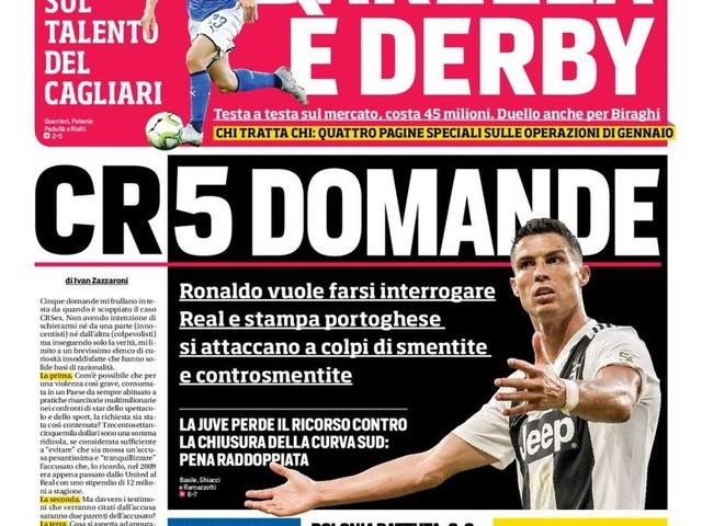 Corriere dello Sport – Barella E' derby