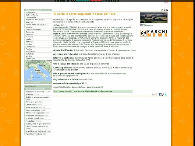 Ente Parchi e Biodiversità - Emilia Occidentale - Di corte in corte seguendo il corso del Taro