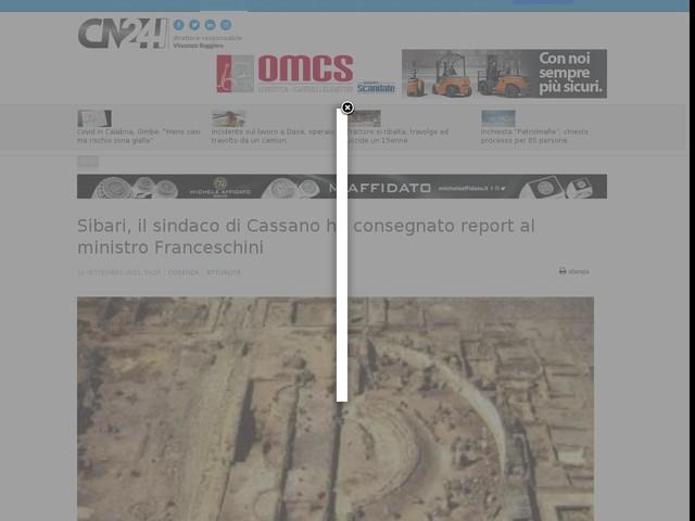 Sibari, il sindaco di Cassano ha consegnato report al ministro Franceschini