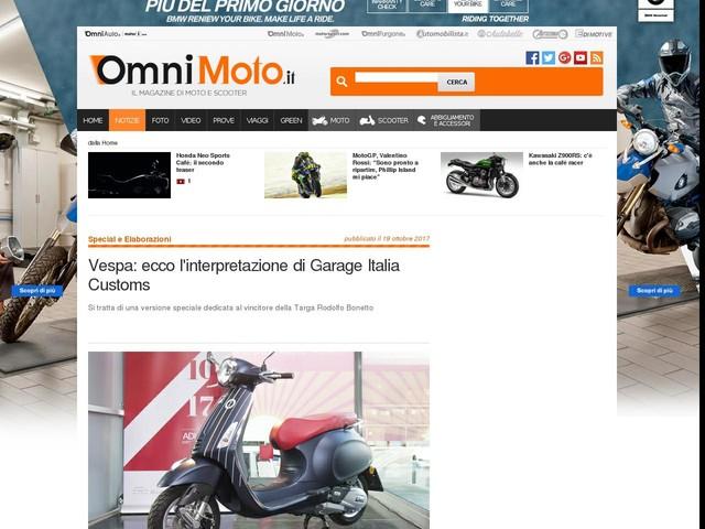 Vespa: ecco l'interpretazione di Garage Italia Customs