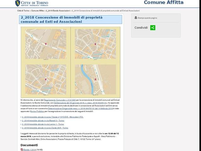 Concessione di immobili di proprietà comunale