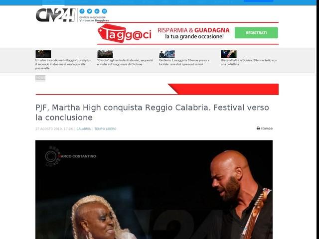 PJF, Martha High conquista Reggio Calabria. Festival verso la conclusione