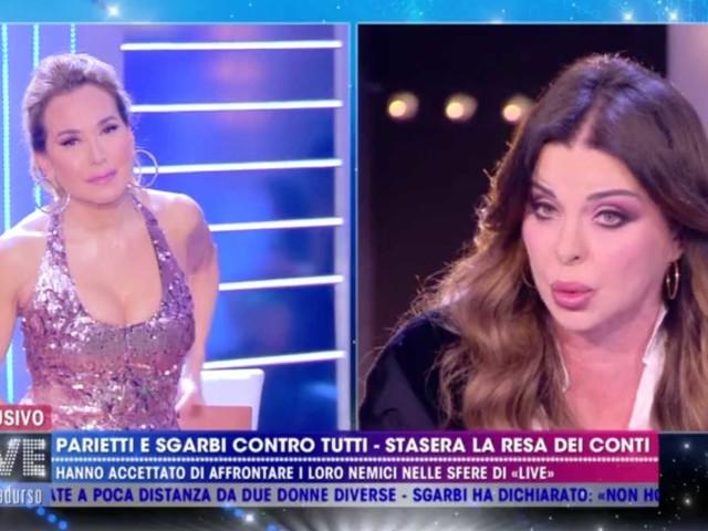 Alba Parietti in studio da Barbara d'Urso dopo averla offesa, le due si confrontano (VIDEO)