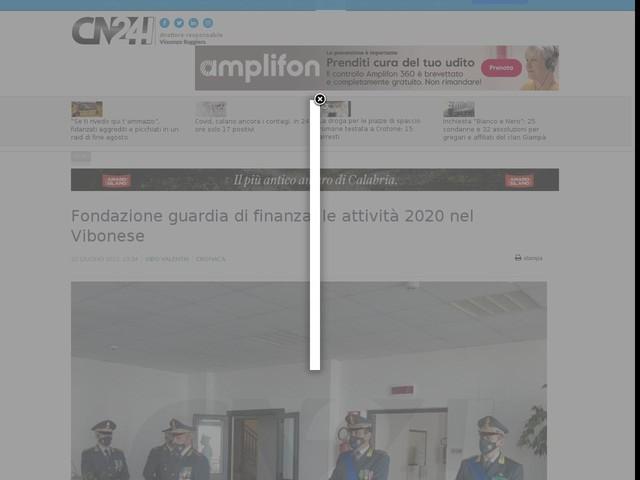 Fondazione guardia di finanza, le attività 2020 nel Vibonese