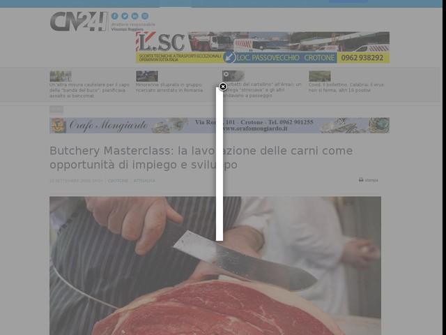 Butchery Masterclass: la lavorazione delle carni come opportunità di impiego e sviluppo