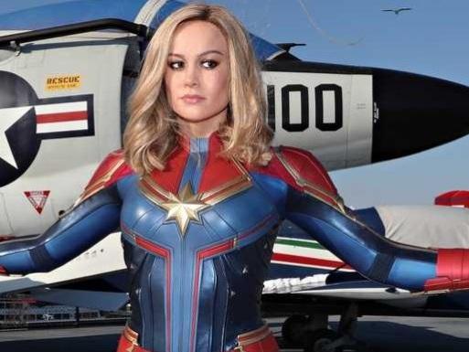 Captain Marvel: svelata la statua del museo Madame Tussauds di New York