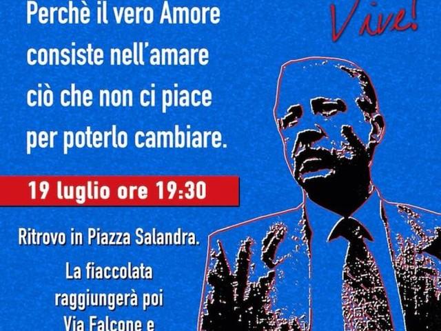 Fiaccolata a Nardò per celebrare la memoria di Borsellino: organizza Andare Oltre, invito aperto alla città