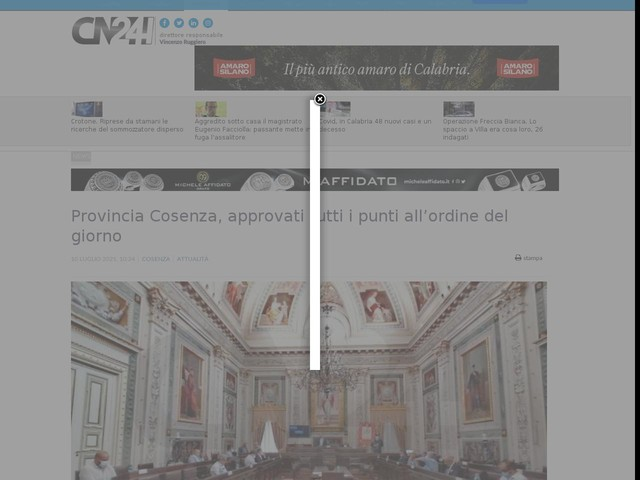 Provincia Cosenza, approvati tutti i punti all'ordine del giorno