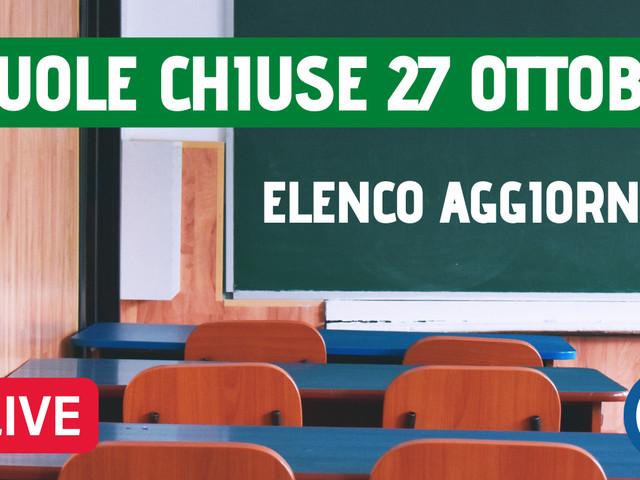 Maltempo 27 ottobre, scuole chiuse a Catania, Messina, Siracusa e in altri comuni. Elenco aggiornato in tempo reale