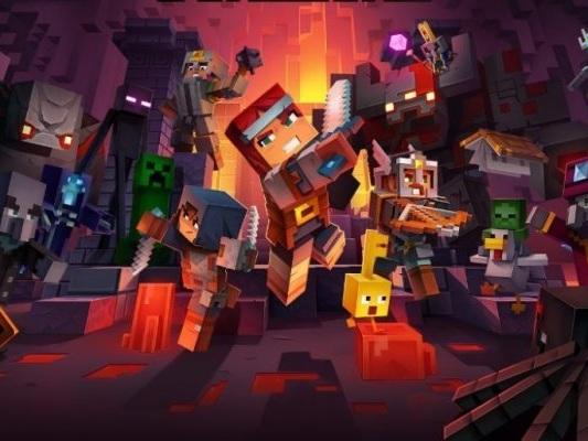 Minecraft: Dungeons, Microsoft annuncia il periodo di uscita con un trailer all'X019 - Notizia - PC