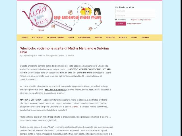 Televicolo: votiamo le scelte di Mattia Marciano e Sabrina Ghio