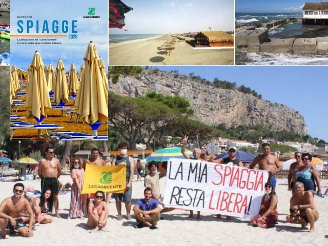 Le spiagge italiane: sempre meno libere, troppe non balneabili e a rischio erosione