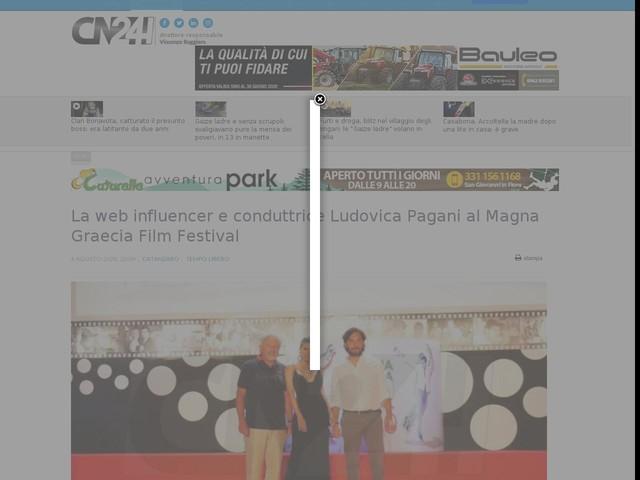 La web influencer e conduttrice Ludovica Pagani al Magna Graecia Film Festival