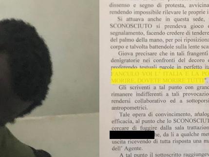 """Gli insulti choc del senegalese: """"Vaf... Italia, dovete morire tutti"""""""