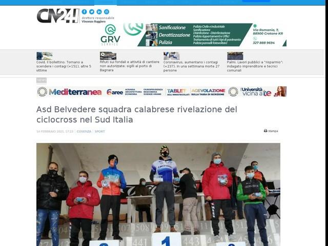 Asd Belvedere squadra calabrese rivelazione del ciclocross nel Sud Italia