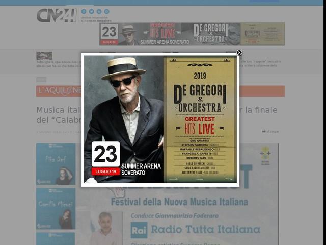 """Musica italiana: tutto pronto a Lamezia Terme per la finale del """"Calabria fest"""""""
