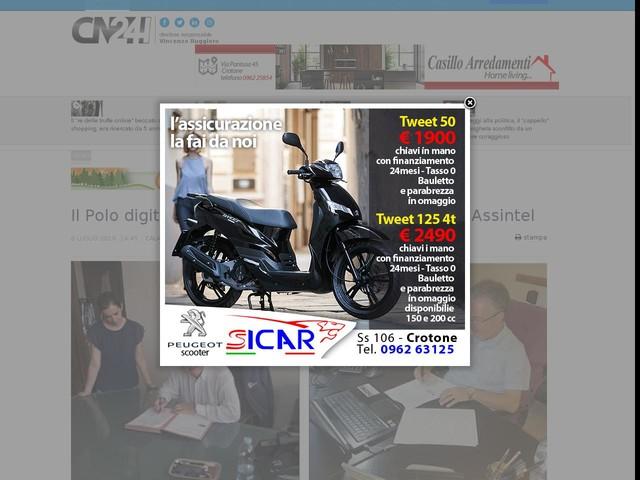 Il Polo digitale della Calabria firma protocollo con Assintel