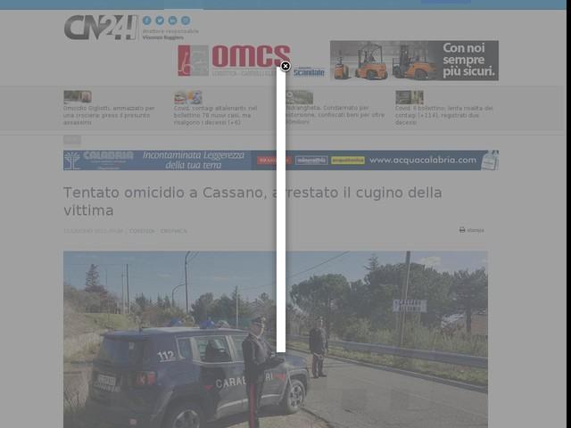 Tentato omicidio a Cassano, arrestato il cugino della vittima