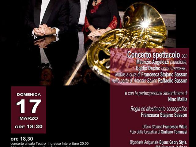 @TeatroArciliuto – Domenica 17 marzo ore 18,30: QUEL GENIO Irriverente DI Mozart III Viaggio