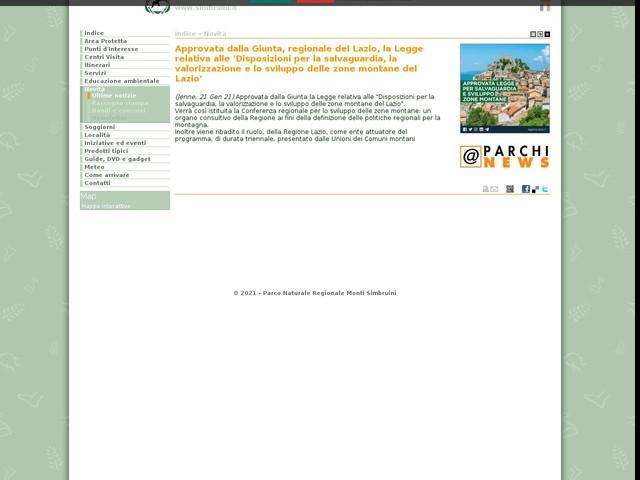 PR Monti Simbruini - Approvata dalla Giunta, regionale del Lazio, la Legge relativa alle 'Disposizioni per la salvaguardia, la valorizzazione e lo sviluppo delle zone montane del Lazio'