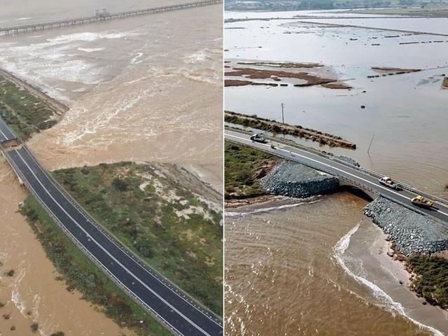 Maltempo in Sardegna, ricostruito il ponte crollato per l'alluvione
