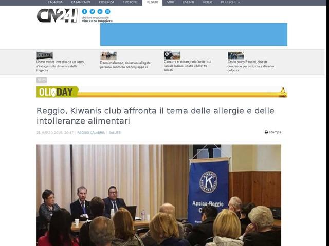 Reggio, Kiwanis club affronta il tema delle allergie e delle intolleranze alimentari