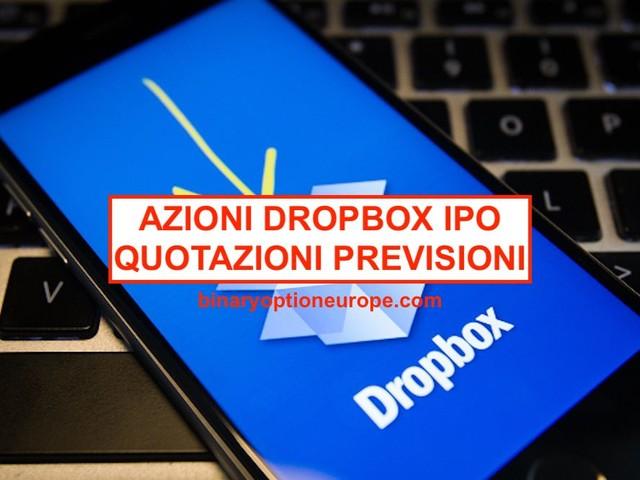 Comprare Azioni Dropbox quotazioni: grafico notizie (previsioni)