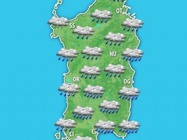 METEO SARDEGNA: nel WEEKEND torna il MALTEMPO con un VORTICE MEDITERRANEO. Piogge anche a Cagliari