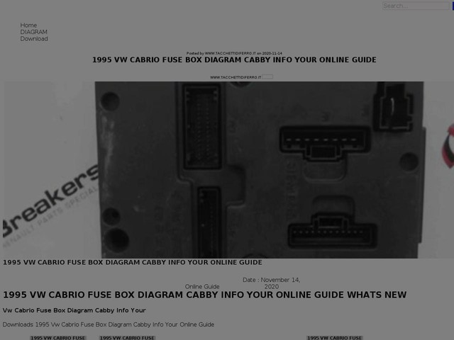 Vw Cabrio Fuse Box Diagram Cabby Info Your Online Guide