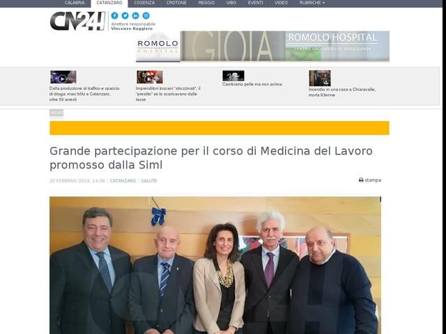 Grande partecipazione per il corso di Medicina del Lavoro promosso dalla Siml