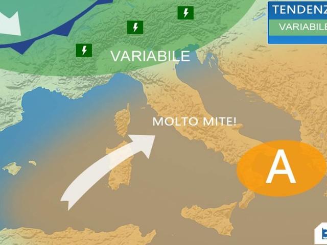 METEO Italia 25 APRILE - qualche temporale al Nord, bello e molto mite al Centrosud