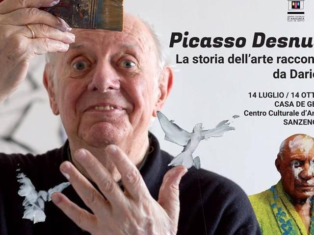"""Dario Fo a Sanzeno con """"Picasso Desnudo"""""""