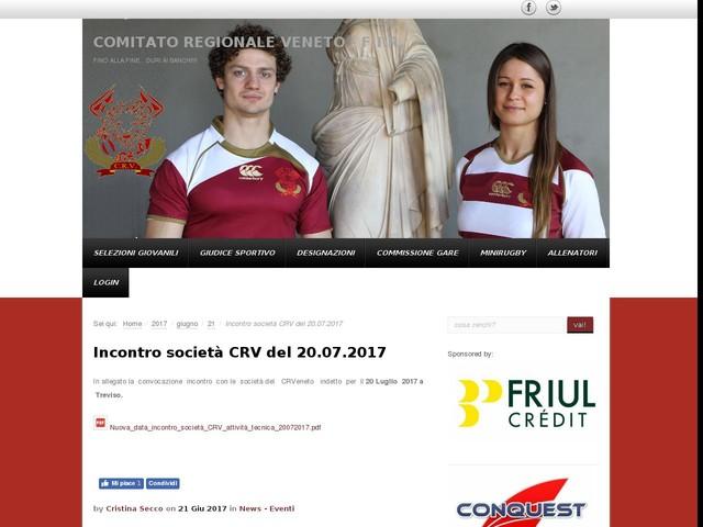 Incontro società CRV del 20.07.2017