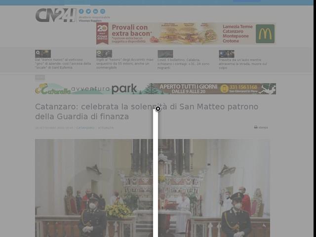 Catanzaro: celebrata la solennità di San Matteo patrono della Guardia di finanza